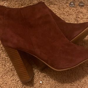 Halogen Peep toe booties